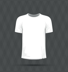 a white t-shirt vector image