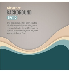 Abstract retro waves background vector image vector image