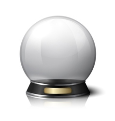 Crystal ball for fortune tellers vector