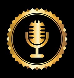 microphone design vector image
