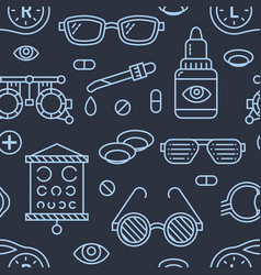 ophthalmology eyes health care seamless pattern vector image vector image