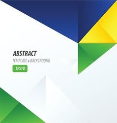 template triangle yellow blue green vector image vector image