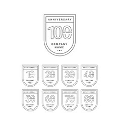 100 years anniversary celebration your company vector