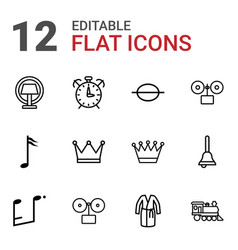 12 classic icons vector image