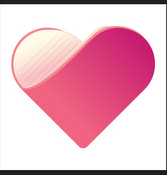 abstract heart-shaped book book love symbol vector image