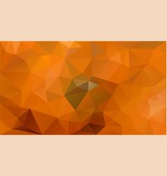Abstract irregular polygonal background orange vector