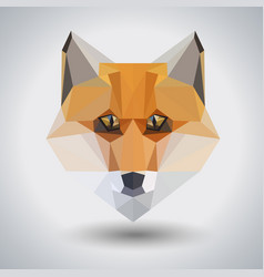 Abstract polygonal tirangle animal fox hipster vector