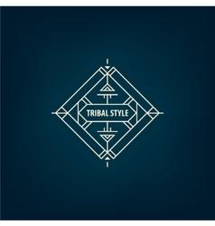 abstract tribal line shape logo frame vector image