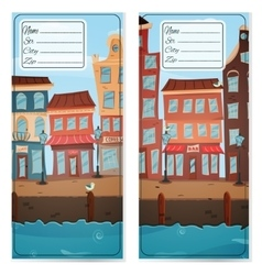 Address card with city vector