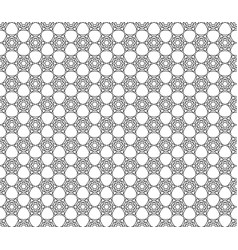 art deco hexagonal seamless vintage wallpaper vector image