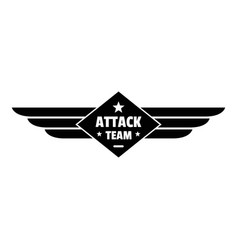 Atack team logo simple style vector