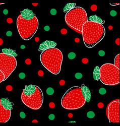 beautiful seamless pattern cartoon black vector image