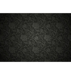 Black Seamless wallpaper pattern vector image