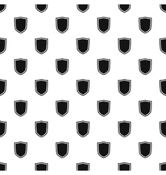 Black shield pattern simple style vector