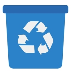 Blue recycle garbage can vector image