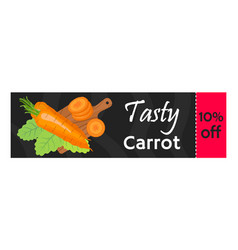 Carrot sale - organic vegetarian nutrition vector
