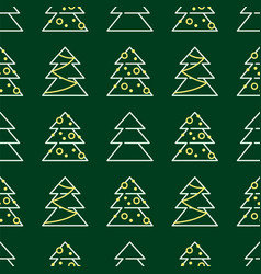 christmas seamless pattern - xmas trees vector image