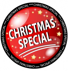 Christmas special button vector image