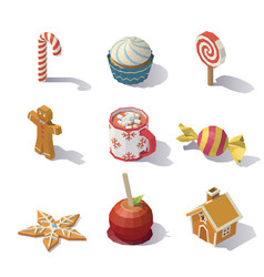 Christmas sweets and pastries vector