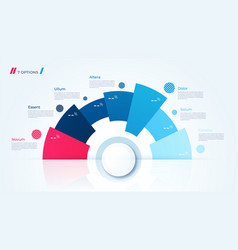 Circle chart design template for creating vector