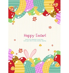 Colorful eggs vector