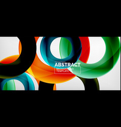colorful rings geometric abstract vector image