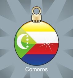Comoros flag on bulb vector image