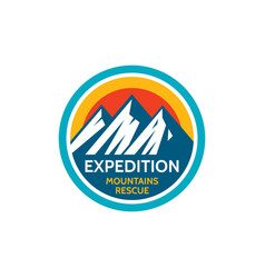 expedition mountains rescue adventure outdoors vector image