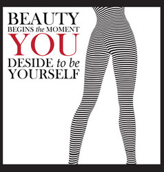 Fashion quote with legs of fashion woman vector