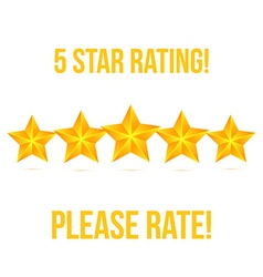 Five Star isolated on white background Rating vector image