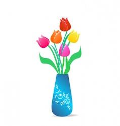Floral vase vector