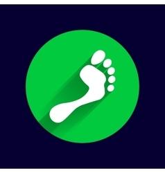 foot icon human footprint logo symbol vector image