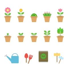 garden tools vector image