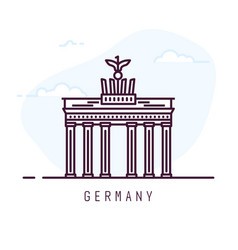 germany line city vector image