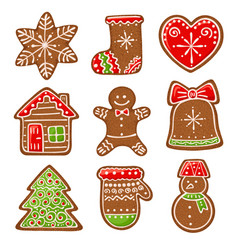 gingerbread collection vector image