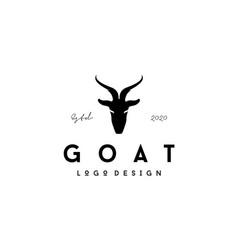 goat head silhouette logo design vector image