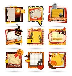 halloween notes vector image