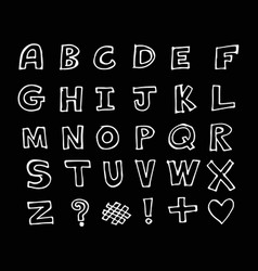 hand drawn doodle font design vector image