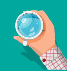 hand holding cup with water vector image