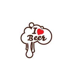 i love beer design vector image