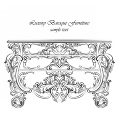 Imperial Baroque Classic commode table furniture vector
