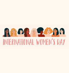 International womens day with vector