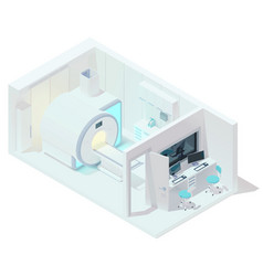 isometric mri and tomography room vector image