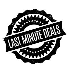 Last Minute Deals rubber stamp vector