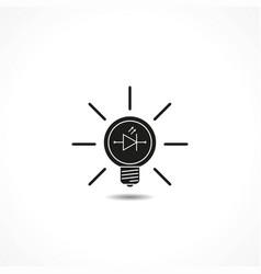 Light led lamp - icon vector