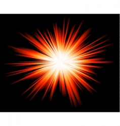 light sparkle with rainbow colours vector image vector image
