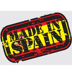 Made in Spain stamp vector
