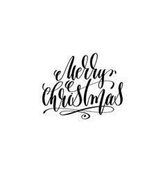 merry christmas hand lettering inscription to vector image