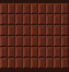 milk chocolate bar seamless background pattern vector image