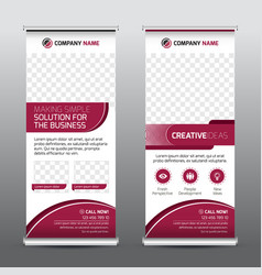 Multipurpose business roll-up banner vector